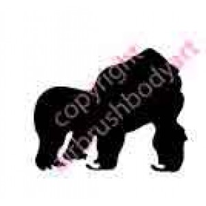 0263b silverback gorilla backing reusable stencil